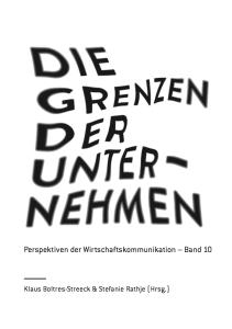 Sammelband_Die Grenzen der Unternehmen_Cover